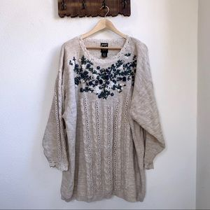Vintage Jacque & Koko | Floral Embroidered Sweater